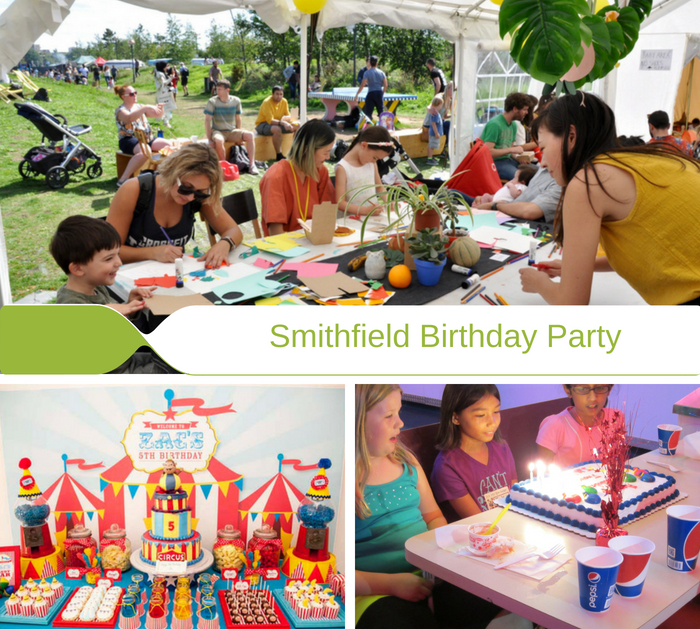 birthday party celebrations at Smithfield